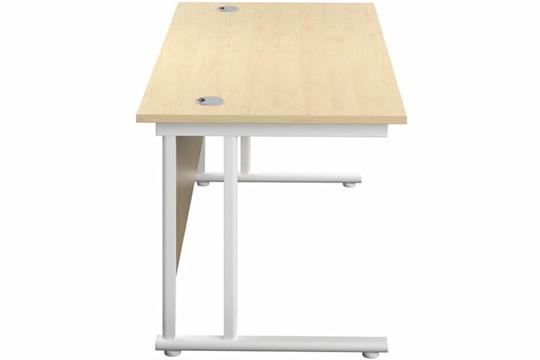Kestral Maple Rectangular Cantilever Desk