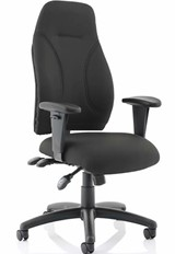 Esme Ergonomic Fabric Office Chair - Black