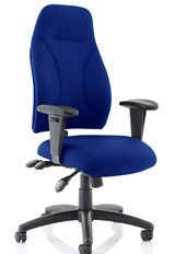 Esme Ergonomic Fabric Office Chair - Blue