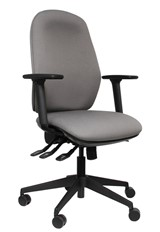 High Back Grey Office Chair - Seat Slide - Large Range Of Colours - Posture Comfort
