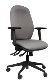 High Back Grey Office Chair - Posture Comfort