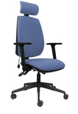 Ergo Sit High Back Office Chair - Light Blue