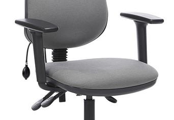 Ergo Lumber Support Office Chair - Grey