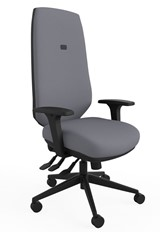 Ergo Adjust High Back Office Chair - Grey