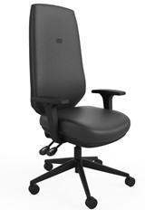 Ergo Sync Vegan Leather Office Chair - Black