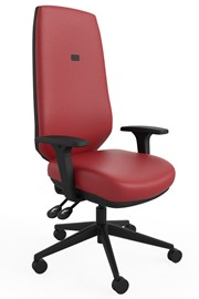 Ergo Sync Vegan Leather Office Chair - Red