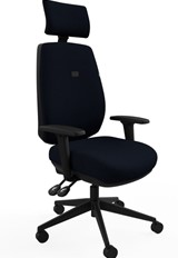 Saturn Ergonomic Padded Office Chair - Black