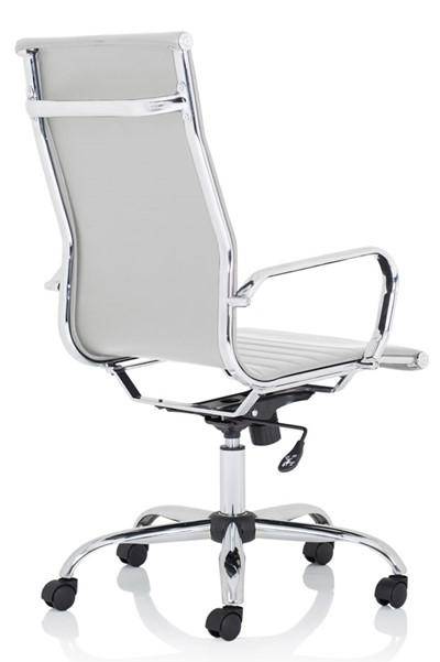 Nola High Back White Executive Office Chair