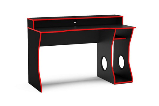 Enzo Black and Red Gaming Computer Desk