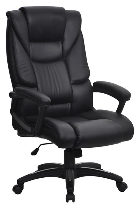 leather home office chair eliza tinsley washington black leather deeply padded 16641 | washington black 1