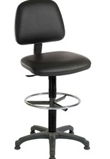 Ergo Draughter Chair - Black No Arm
