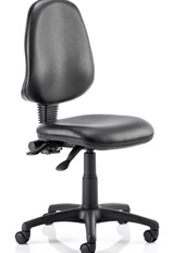 Vinyl Operator Chair - Black No Arms