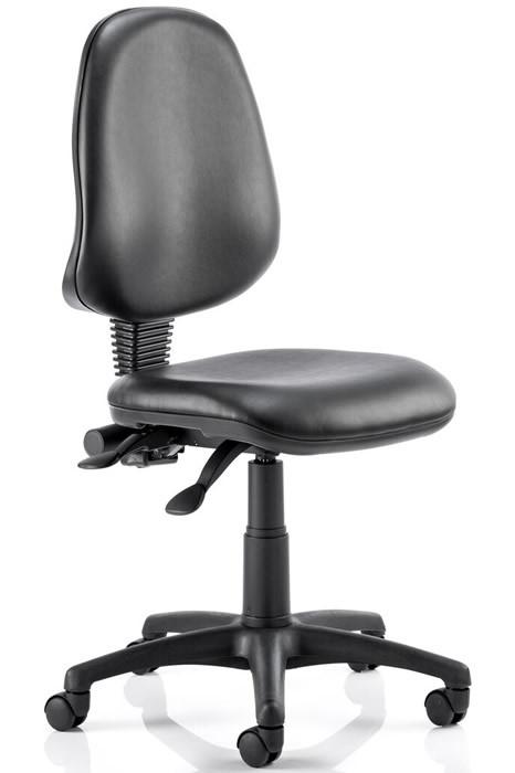 Affordable Black Vinyl Operator Chair Adjustable Seat Amp Back