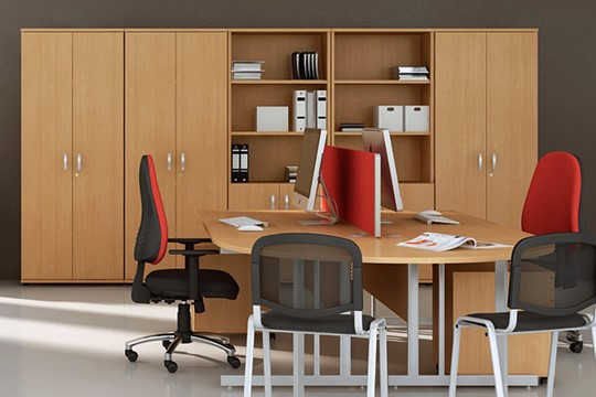 Price Point 1200mm Beech Office Bookcase