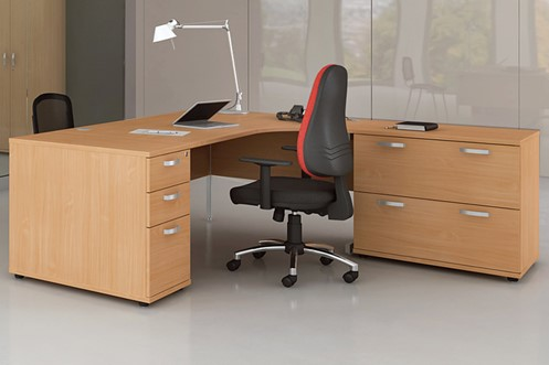 Price Point Beech Corner Desk