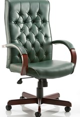Chesterfield Leather Chair - Green