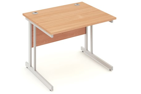 Price Point Return Cantilever Beech Desk