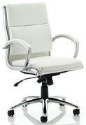 Woolwich Task Leather Chair - White