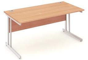 Price Point Beech Rectangular Cantilever Desk
