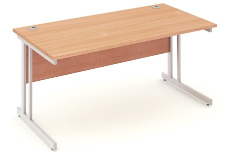 Price Point Beech Rectangular Cantilever Desk
