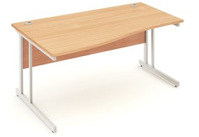 Price Point Cantilever Beech Wave Desk