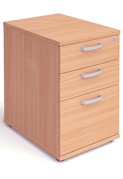 Price Point 3 Drawer Desk High Beech Pedestal