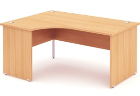 Price Point Beech Panel End Crescent Desk