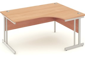 Price Point Beech Cantilever Corner Desk