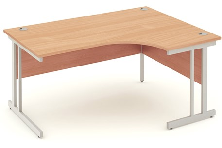 Price Point Beech Cantilever Crescent Desk