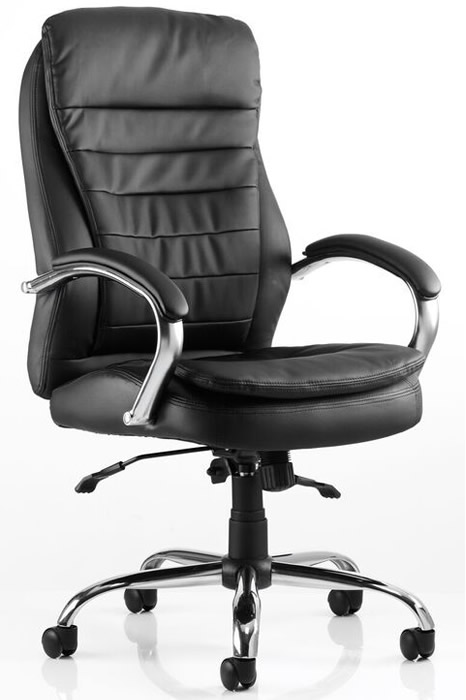 Goliath Heavy Duty Black Leather Office Chair Bariatric