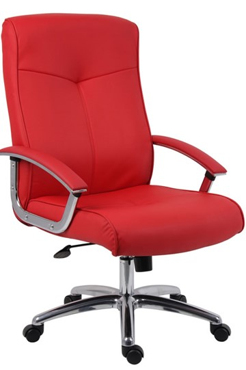 red leather office chair. Red Leather Office Chair E