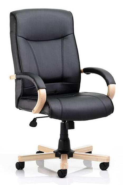 Kingston Oak Leather Office Chair