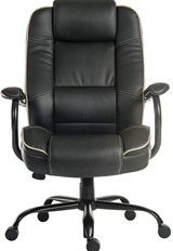 Goliath Duo Leather Office Chair - Black