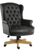 Chairman Noir Leather Office Chair