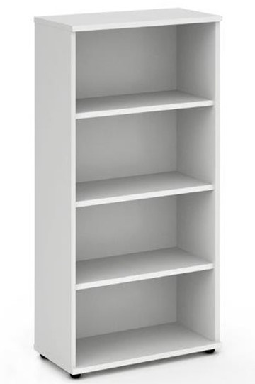 Polar White 1600mm Office Bookcase