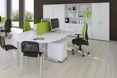 Polar White 2000 Office Bookcase