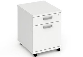 Polar White 2 Drawer Mobile Pedestal