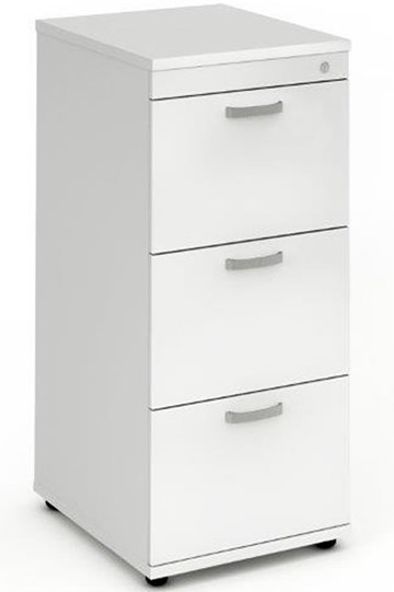 Polar White 3 Drawer Filing Cabinet