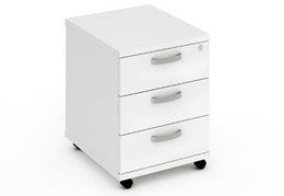 Polar White 3 Drawer Mobile Pedestal
