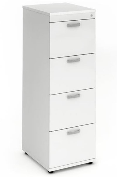Polar White 4 Drawer Filing Cabinet