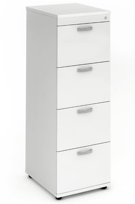 Polar White 4 Drawer Filing Cabinet
