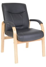 Kingston Visitor Office Chair - Light Wood