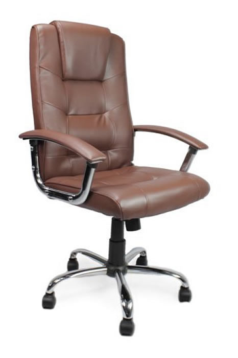 Cheap Winchester Brown Leather Executive Office Chair