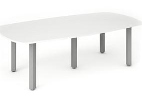 Polar White 2400 Boardroom Table