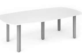 Polar White 2400 Boardroom Table