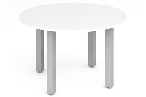Polar White 1200mm Round Meeting Table
