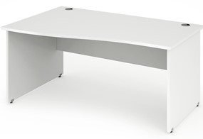 Polar White Wave Desk