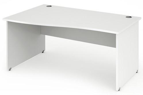 Polar White Wave Desk