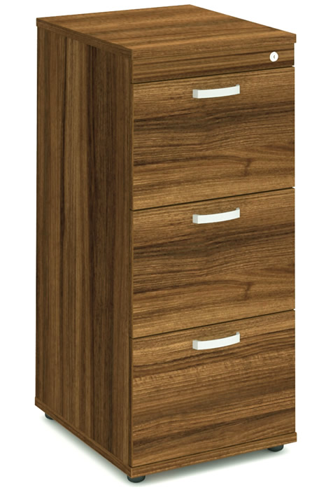 Perfect Nova Walnut 3 Drawer Filing Cabinet