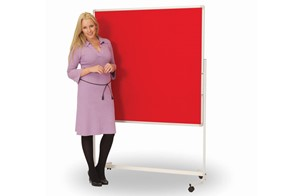 Mobile Pinboards - 900 x 1200mm Red